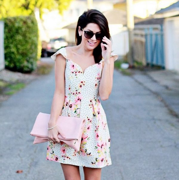 cute little capped sleeve sweetheart dress for spring bmodish