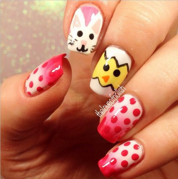 cute ombre easter nail design bmodish
