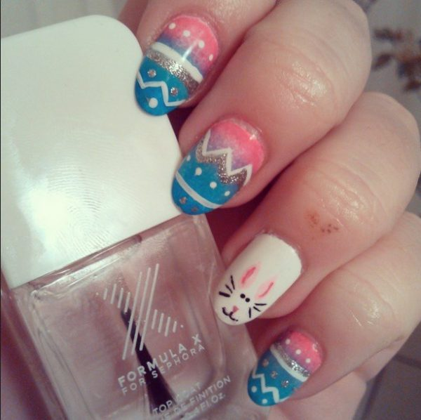 cute ombre easter nails bmodish