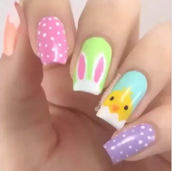 cute pastel easter nails bmodish