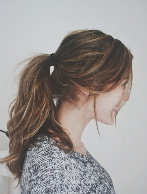 cute ponytail for everyday bmodish