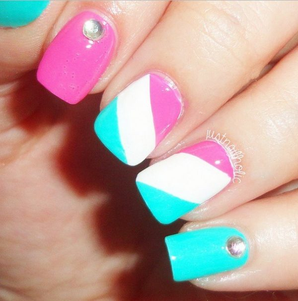 easy tricolour nail design bmodish