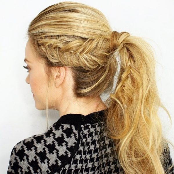 french braid with ponytail bmodish