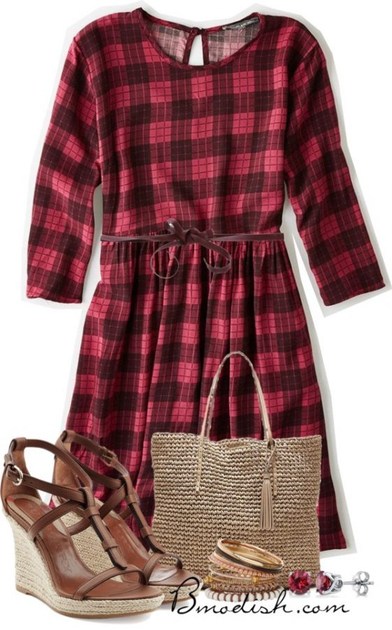 gingham dress outfit bmodish