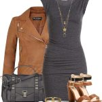 bodycon dress with leather jacket outfit