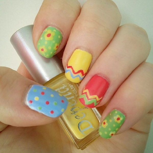 happy color easter nails bmodish