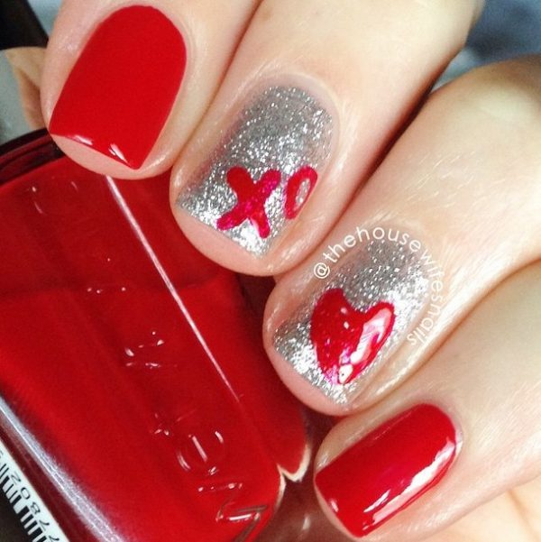 heart and hug easy nail art bmodish