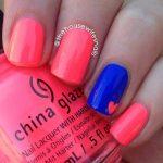 neon easy nail art for beginners