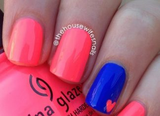 neon easy nail art for beginners