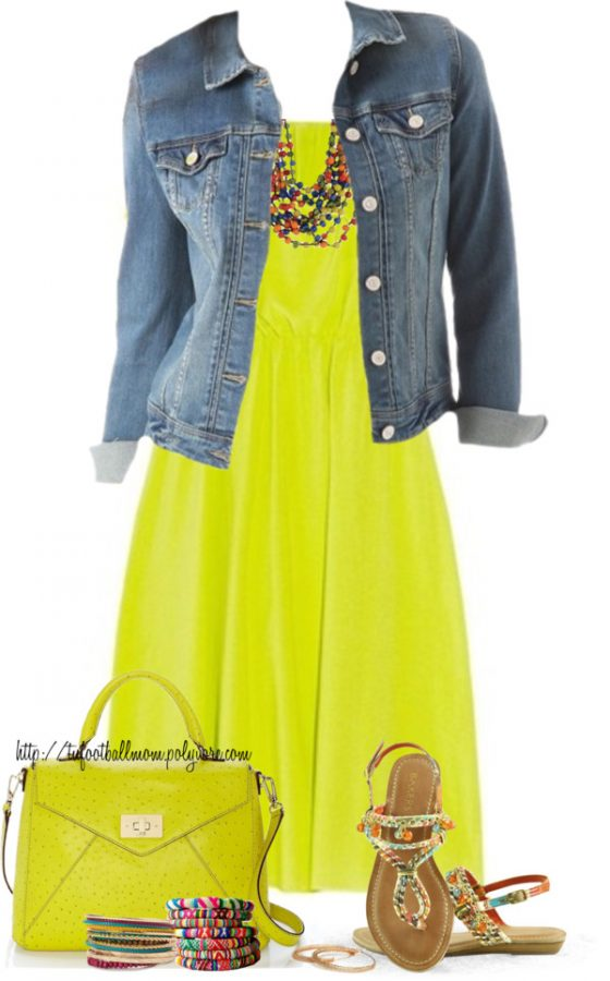 neon sundress with flat sandals spring summer outfit bmodish