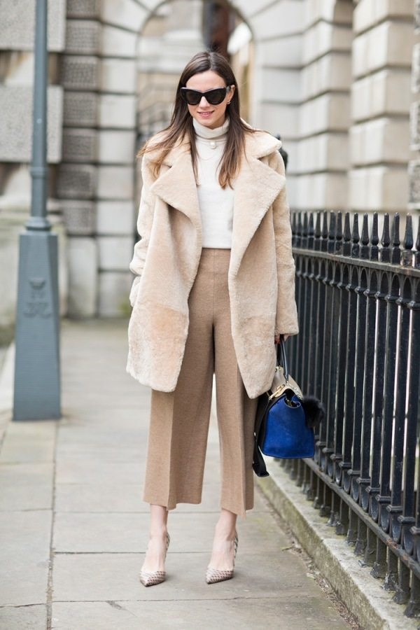 how to wear neutral color culottes bmodish