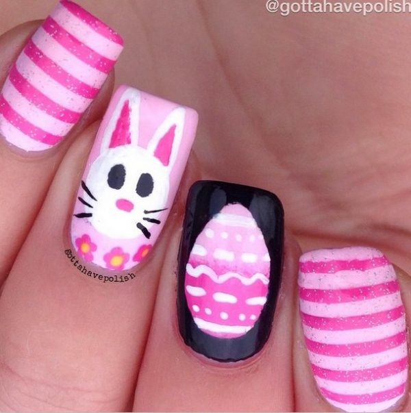 ombre easter egg nail art bmodish