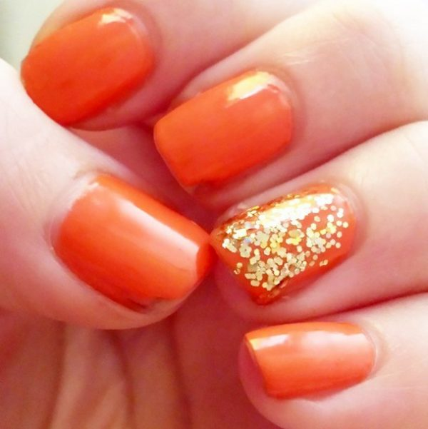 one nail glitter nails bmodish