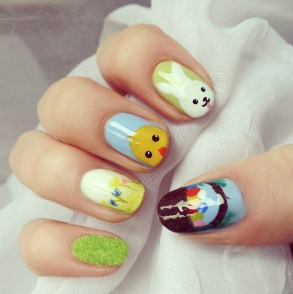 perfect nail art for easter bmodish