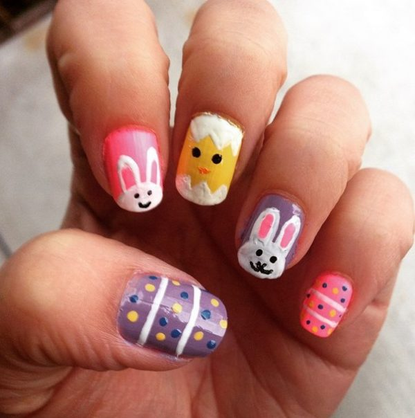 really cute easter nails bmodish