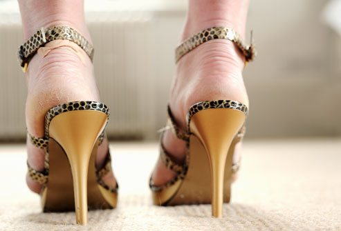 right position heels