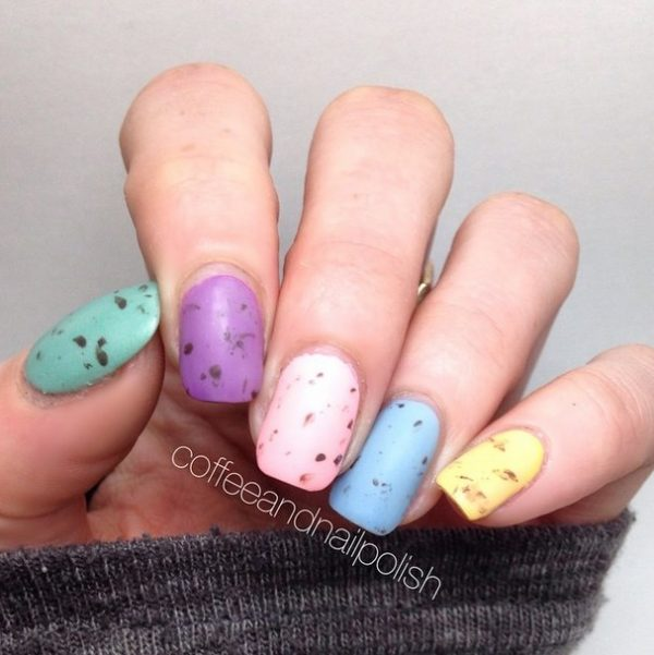 simple easter nail design bmodish