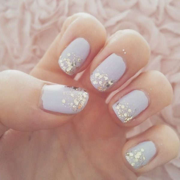 simple glitter nails bmodish
