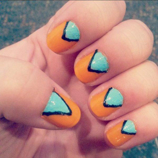 simple triangle nail art bmodish