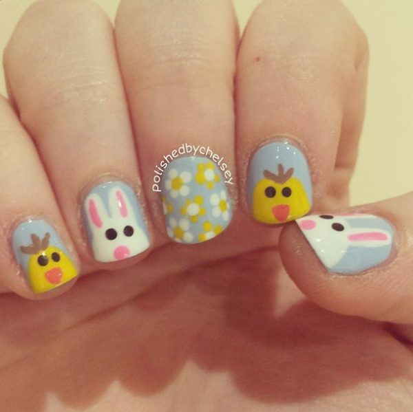 so cute easter nail design bmodish