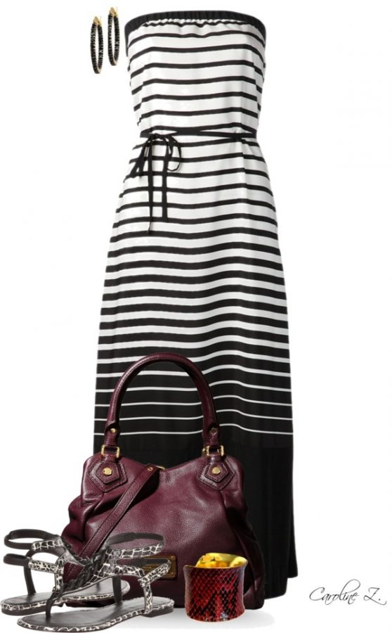 striped tube dress casual summer outfit bmodish