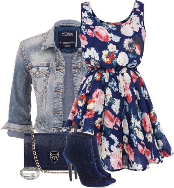 sundress and booties outfit bmodish