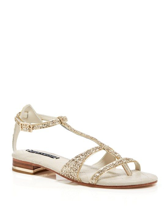 Alice + Olivia Flat Thong Sandals - Nola Glitter bmodish