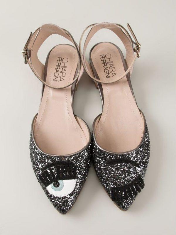 Chiara Ferragni 'Flirting' Glitter Sandals