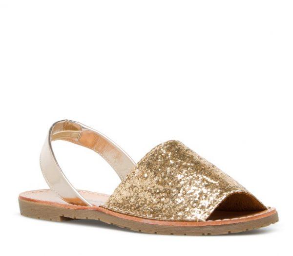 ELEVATE-glitter flat sandals bmodish