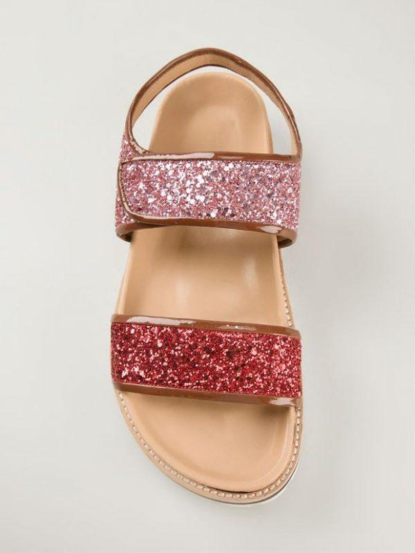 Erika Cavallini Semi Couture glitter velcro strap sandals bmodish