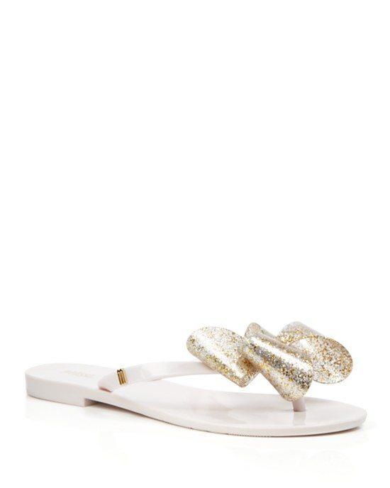 Melissa Flip Flops - Harmonic Glitter Bow bmodish