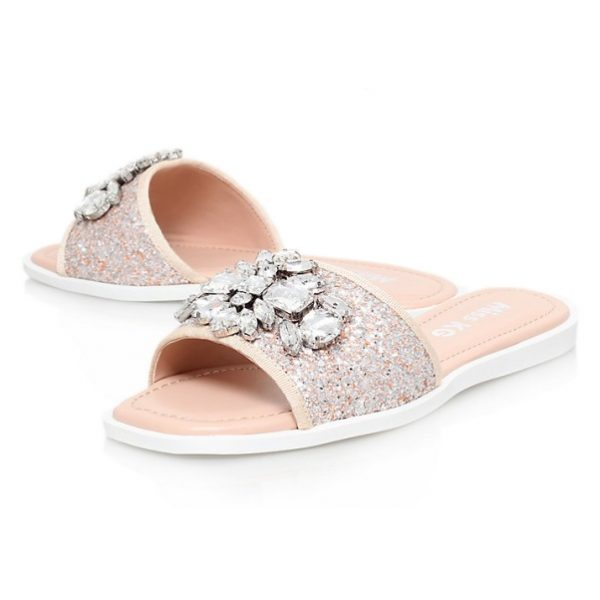 Miss KG Rebecca Embellished Slip On Sandals