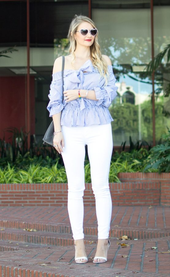 Off the Shoulder blouse cute spring outfit bmodish