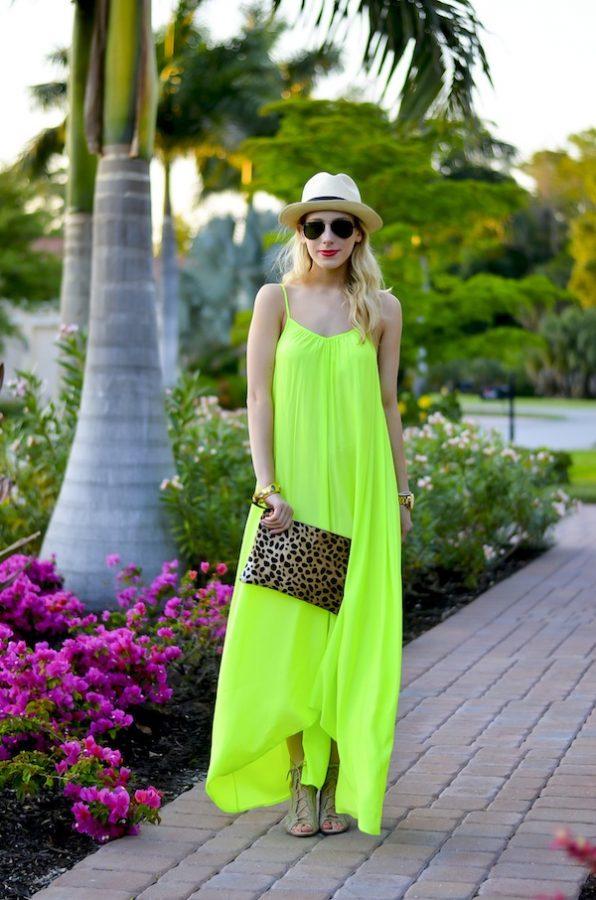 One by Pink Stitch Neon Maxi Dress outfit bmodish