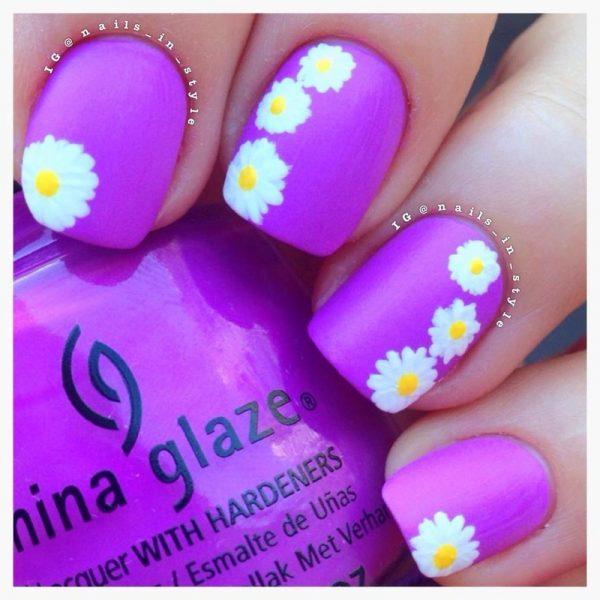 Spring Daisies Thats Shore Bright nail art bmodish
