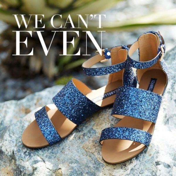 becks glitter sandals