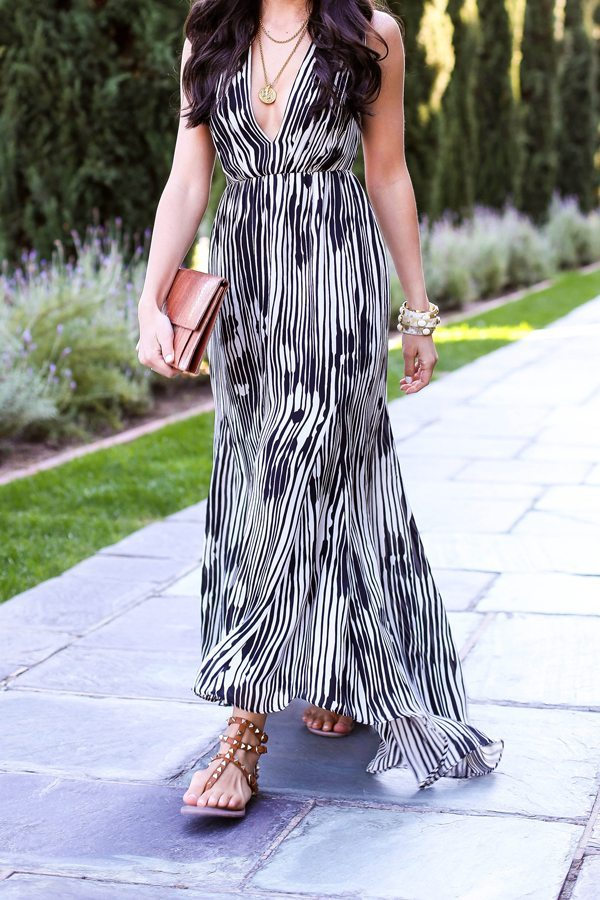 black and white maxi dress bmodish