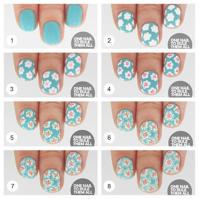 blooming floral spring nails tutorial bmodish