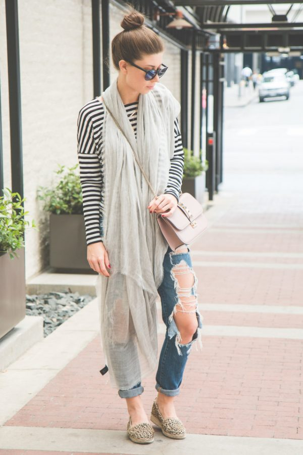 casual spring style with long scarf bmodish