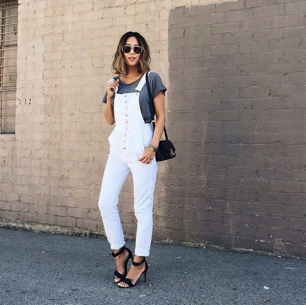 casual white overall bmodish