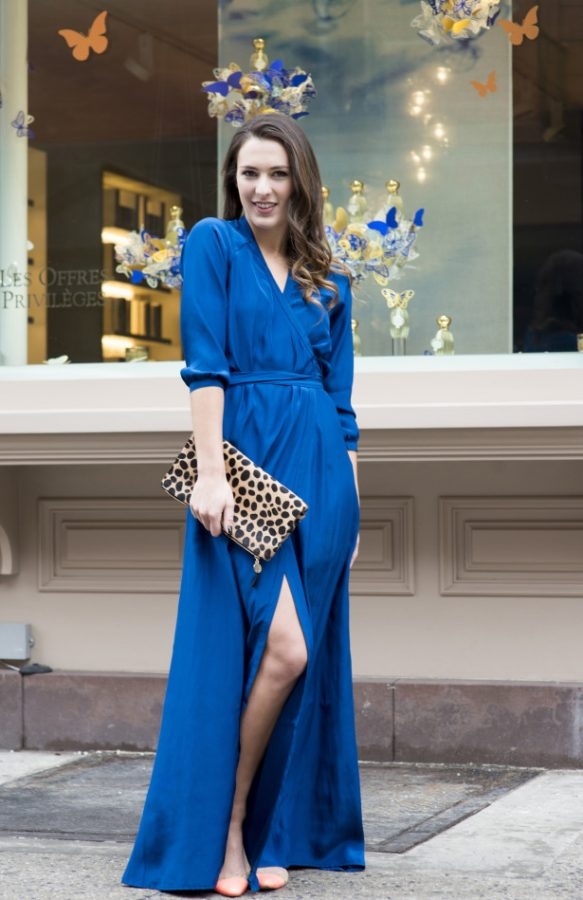 cobalt blue maxi dress bmodish