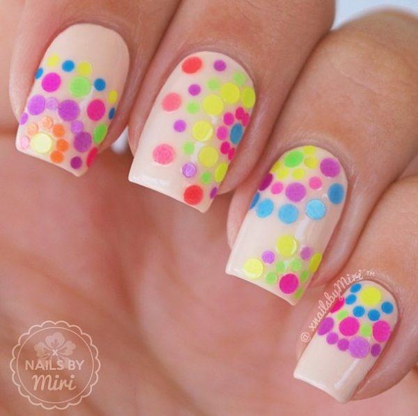 colorful glitters sequin nail art bmodish