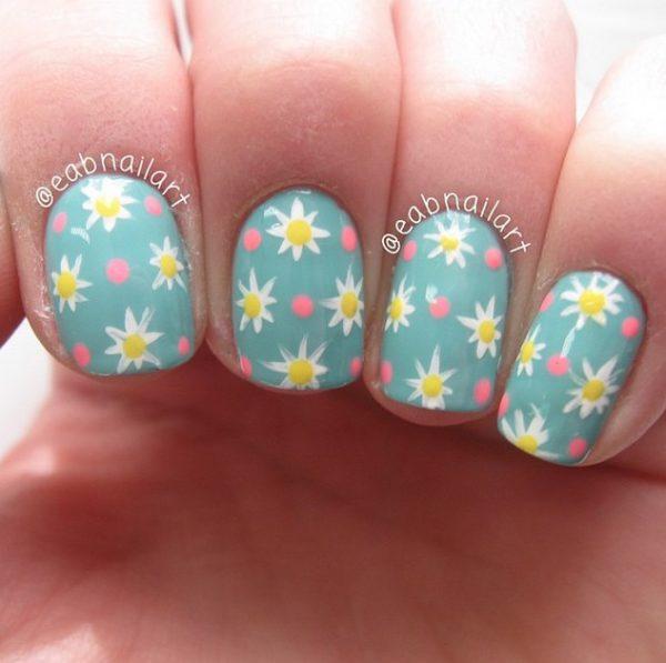 cute daisies spring mani bmodish
