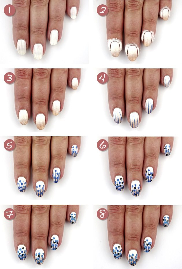 cute flower spring nail art tutorial bmodish