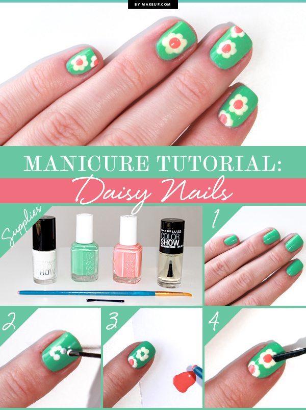daisy nail tutorial bmodish