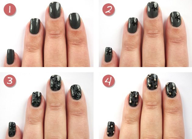 dark elegant floral nails bmodish
