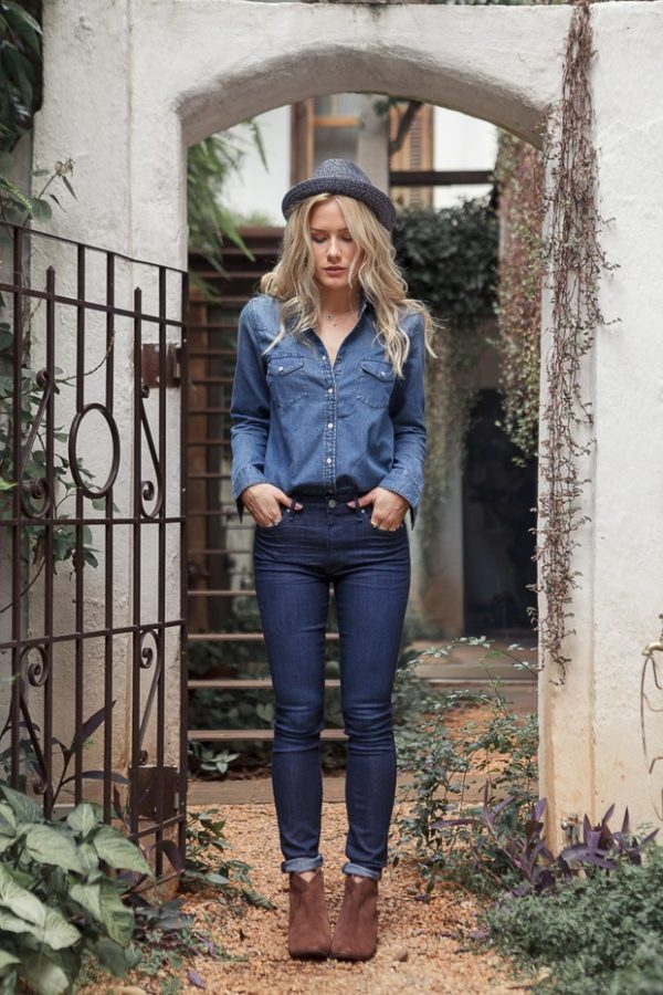 denim on denim chambray shirt bmodish