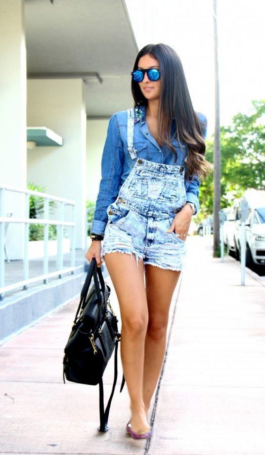 denim on denim overall style bmodish