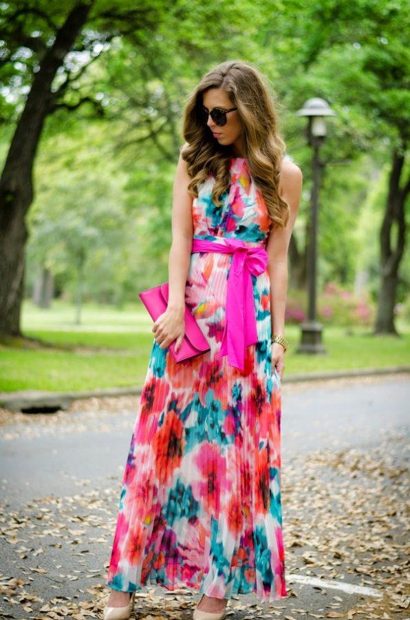 floral halter top maxi dress bmodish