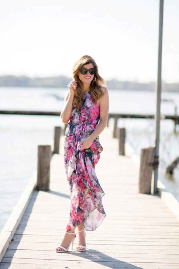 floral maxi halter top dress bmodish